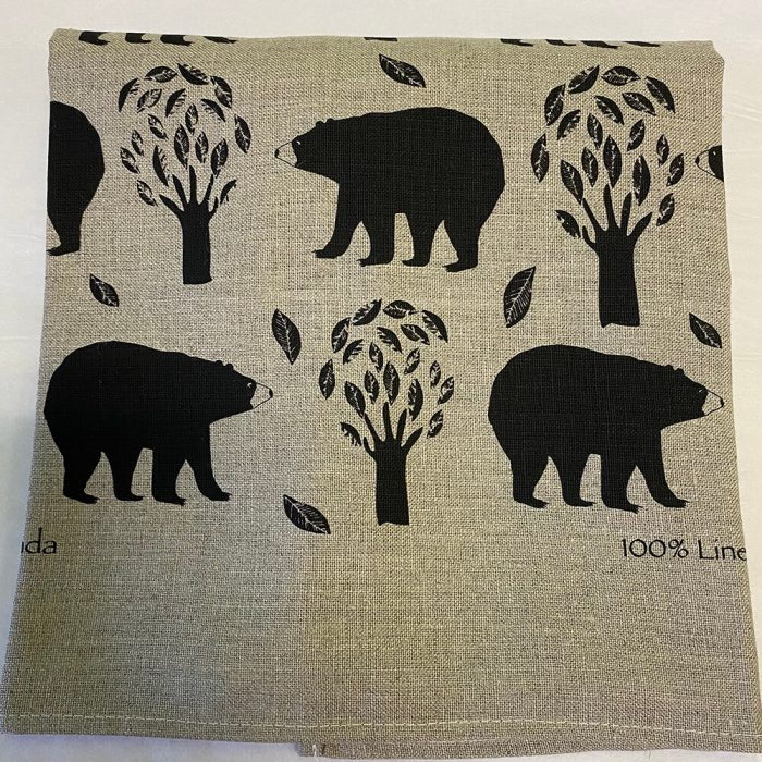 Bears Oatmeal Tea Towel