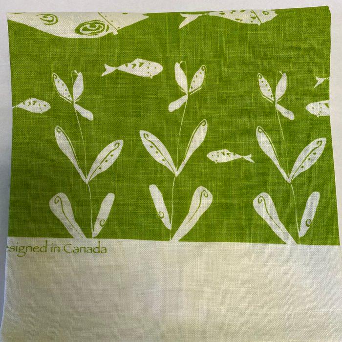 Bottle Fish Green Tea Towel