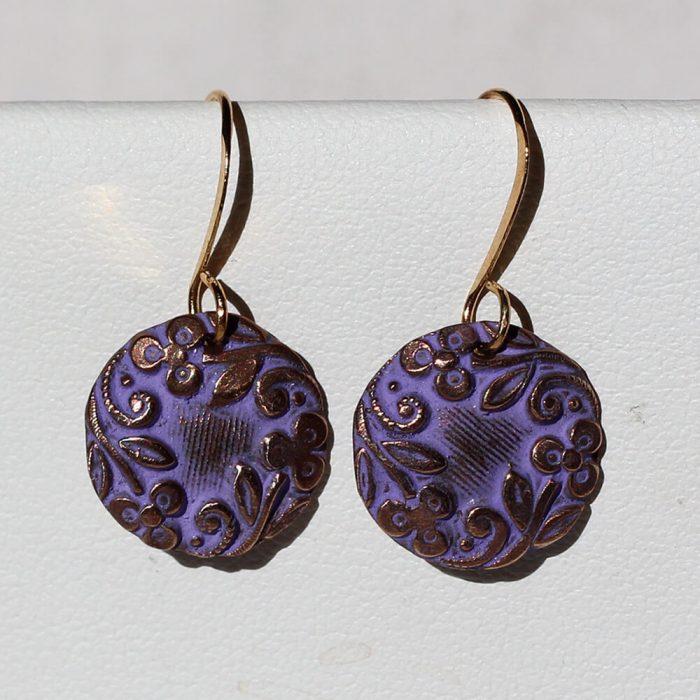 Earrings Floral Discs